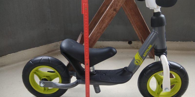 Pünktchens Laufrad, extra für ihn umgebaut